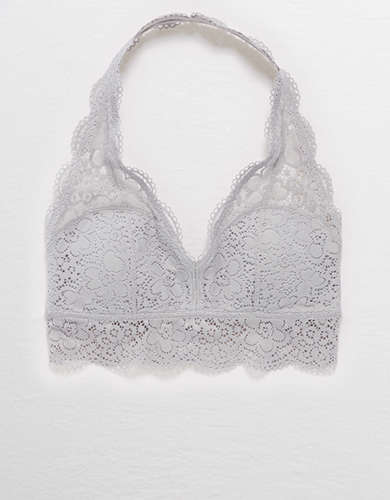 Aerie Wildflower Lace Padded Halter Bralette