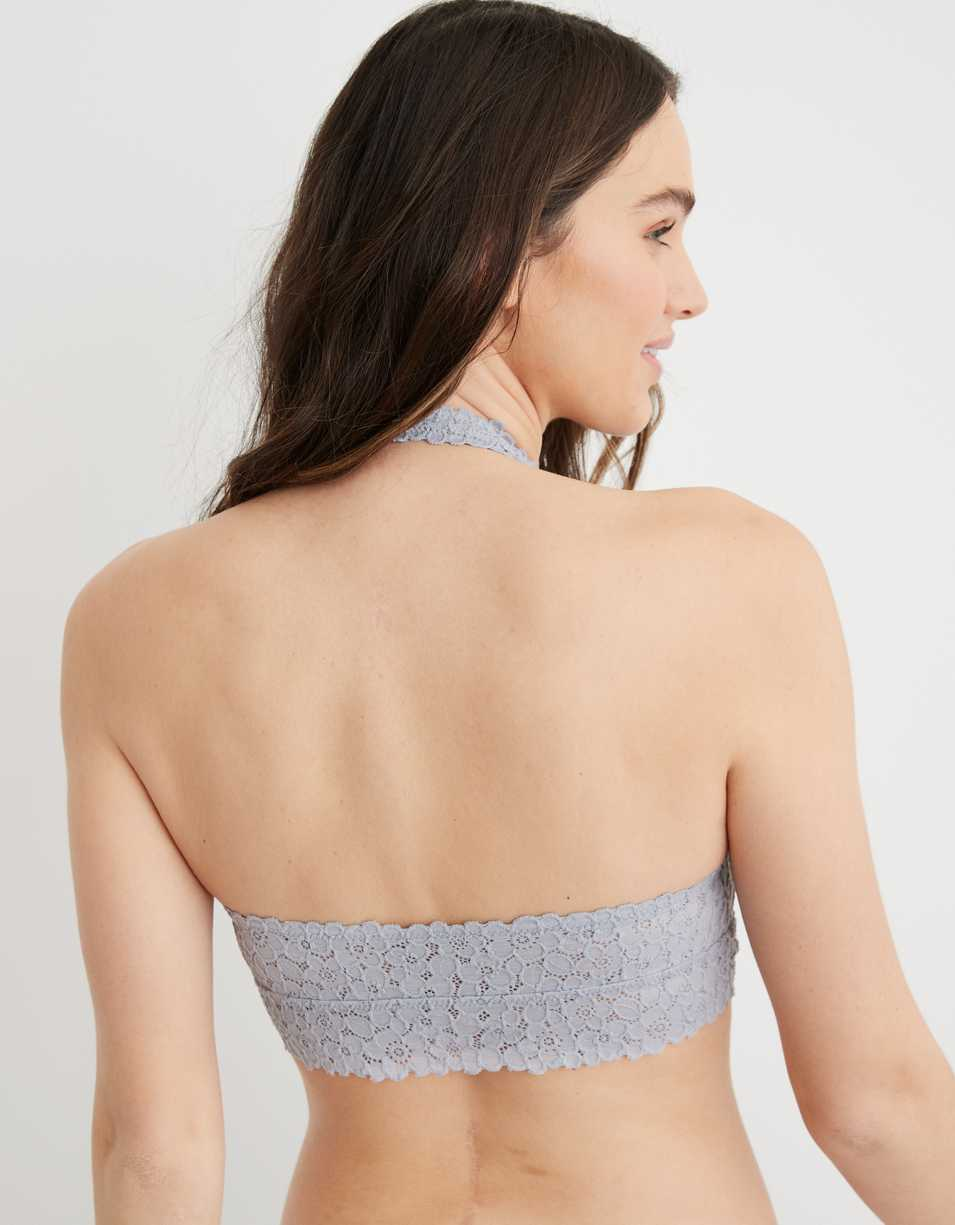 Aerie Real Good Lace Padded Halter Bralette
