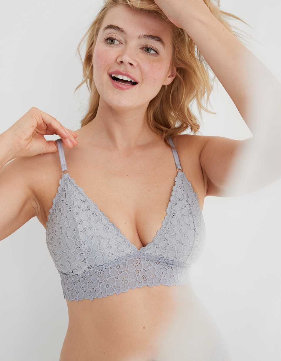 Aerie Real Good Lace Strappy Triangle Bralette
