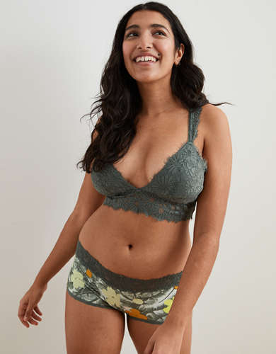 Aerie Happy Lace Padded Racerback Bralette