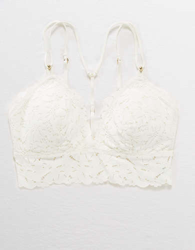 Aerie Palm Lace Racerback Padded Bralette