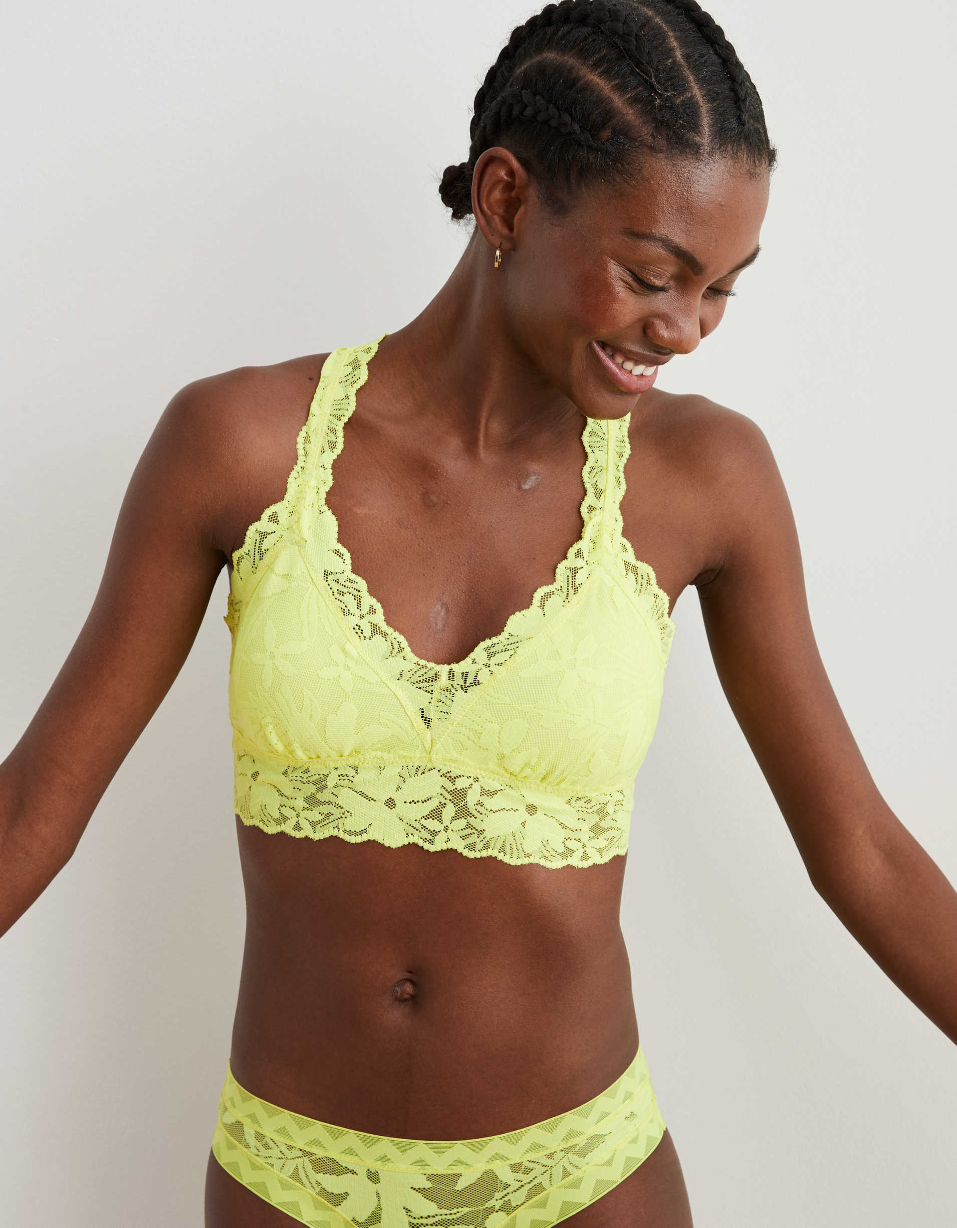 Aerie LOVE! Lace Padded Bralette