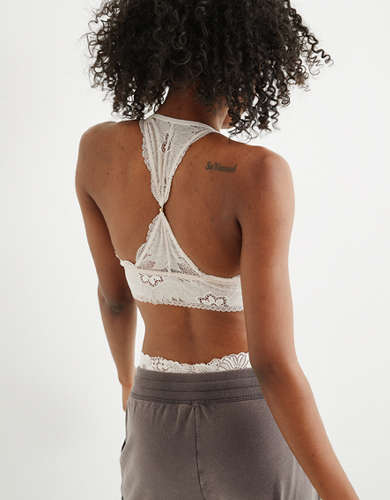 Aerie Hibiscus Lace Padded Racerback Bralette