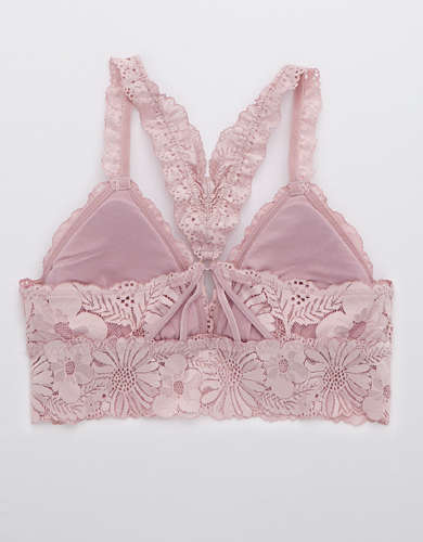 Aerie Garden Party Lace Padded Racerback Bralette