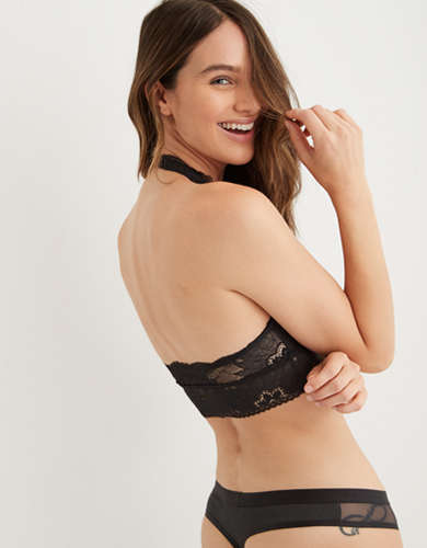 Aerie Hibiscus Lace Padded Halter Bralette