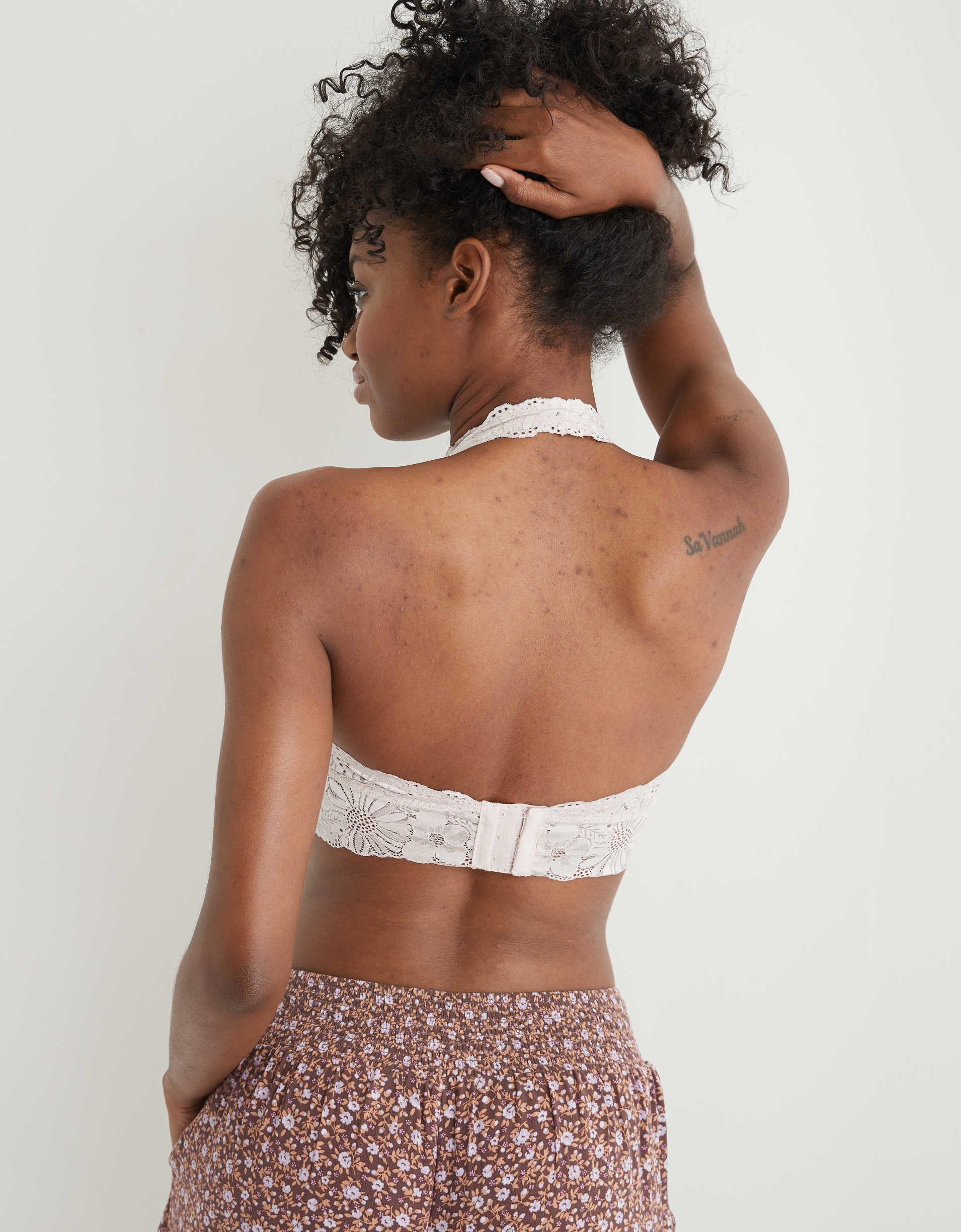 Aerie Garden Party Lace Padded Halter Bralette