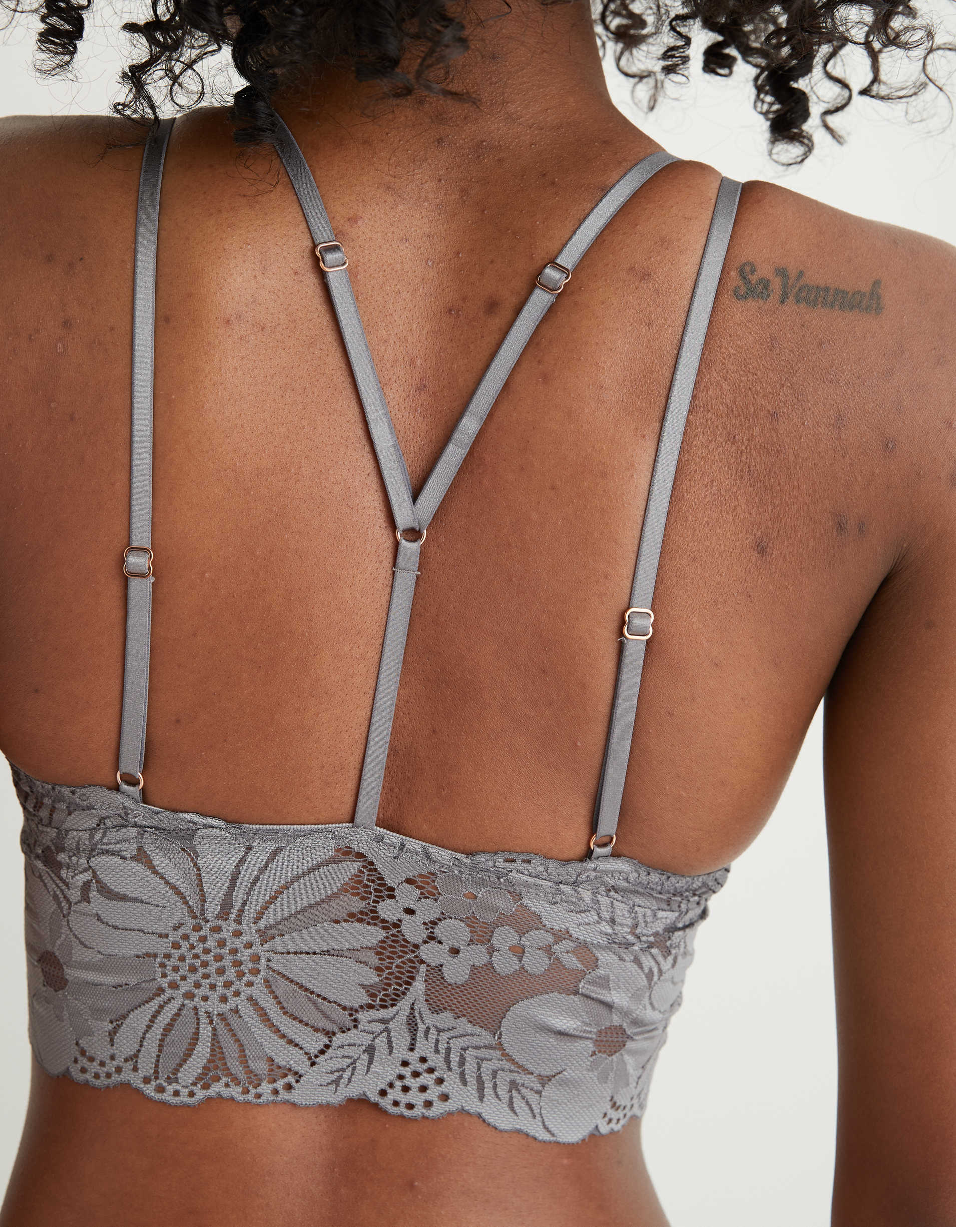 Aerie Garden Party Lace Strappy Padded Bralette