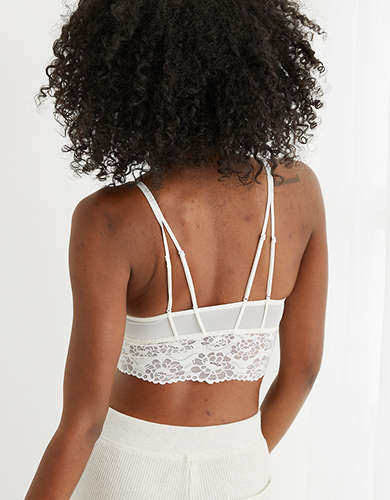 Aerie Gingerbread Lace Padded Strappy Bralette