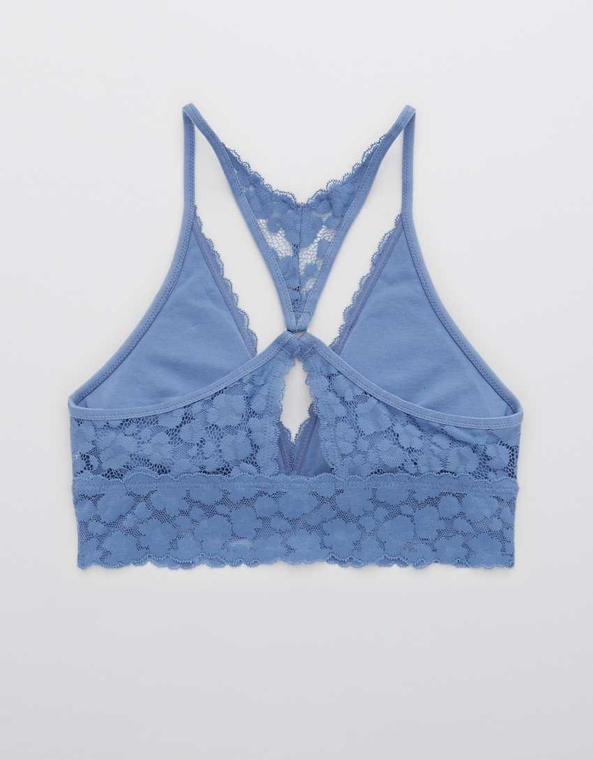 Aerie Wild Side Lace Padded Plunge Bralette