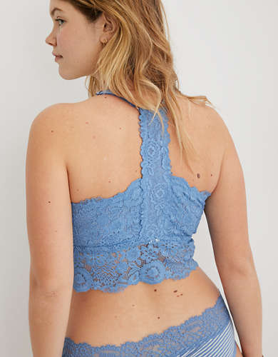Aerie Bluegrass Lace Padded Racerback Bralette