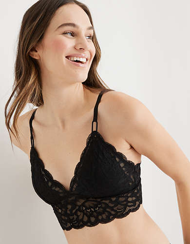 Aerie New Blooms Lace Padded Triangle Bralette