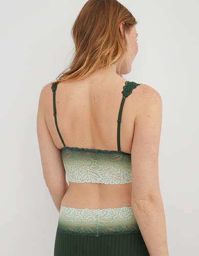 Aerie Ombre Firework Lace Padded Plunge Bralette
