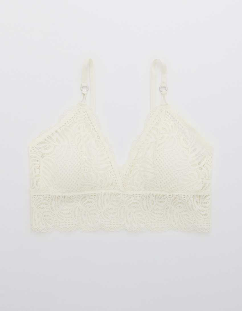 Aerie Be Free Lace Padded Triangle Bralette