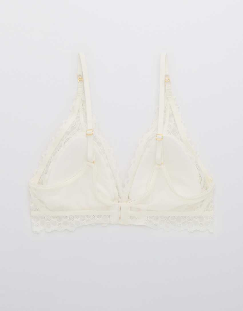 Aerie Free-To-Be Lace Padded Plunge Bralette