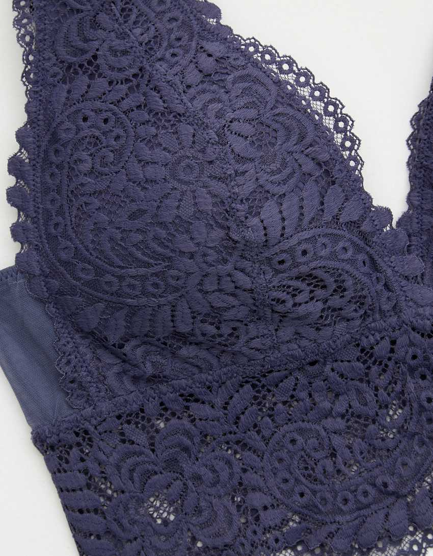 Aerie Far Out Lace Padded Plunge Bralette