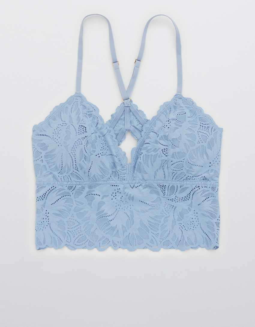 Aerie Holiday Best Lace Padded Racerback Bralette