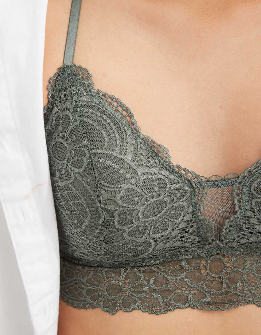 Aerie Slumber Party Lace Padded Racerback Bralette