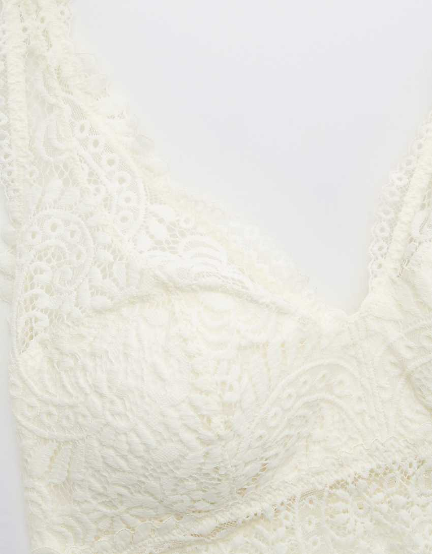 Aerie Far Out Lace Padded Halter Bralette