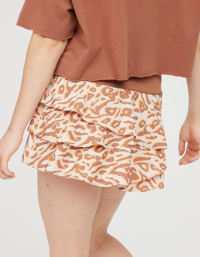 OFFLINE Maggie Printed Ruffle Tennis Skirt