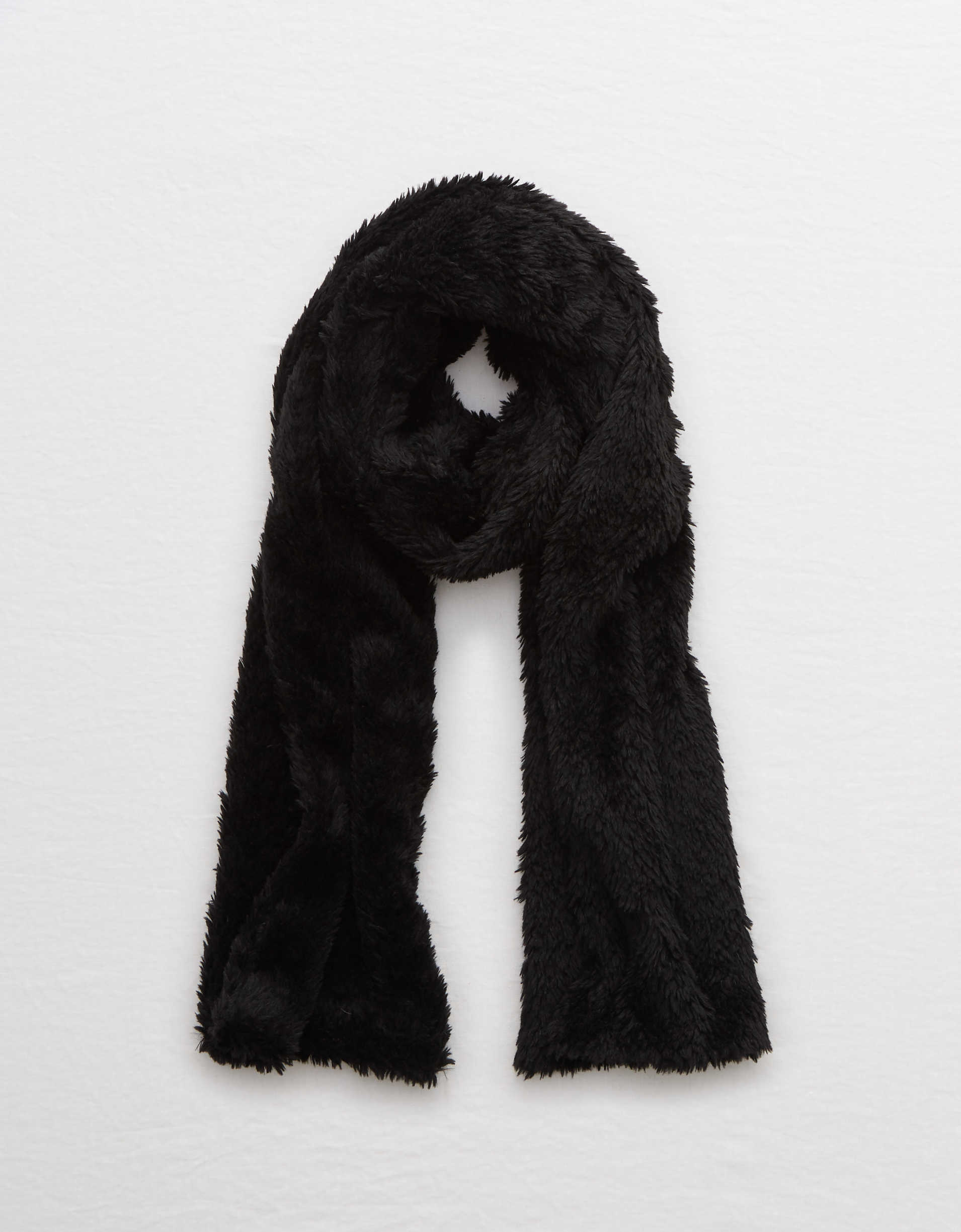 Aerie Knit Sherpa Scarf