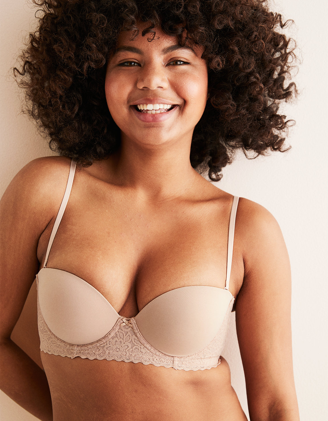 5b2b79d3e8a10 Aerie Real Happy Strapless Push Up Bra