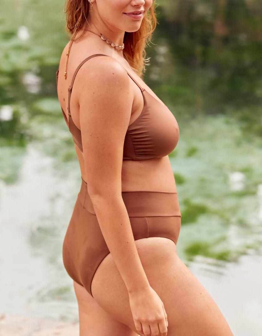 OFFLINE Real Me Crossover High Cut Cheeky Bikini Bottom