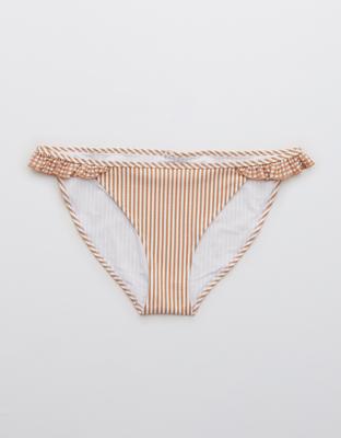 Aerie Seersucker Ruffle Bikini Bottom
