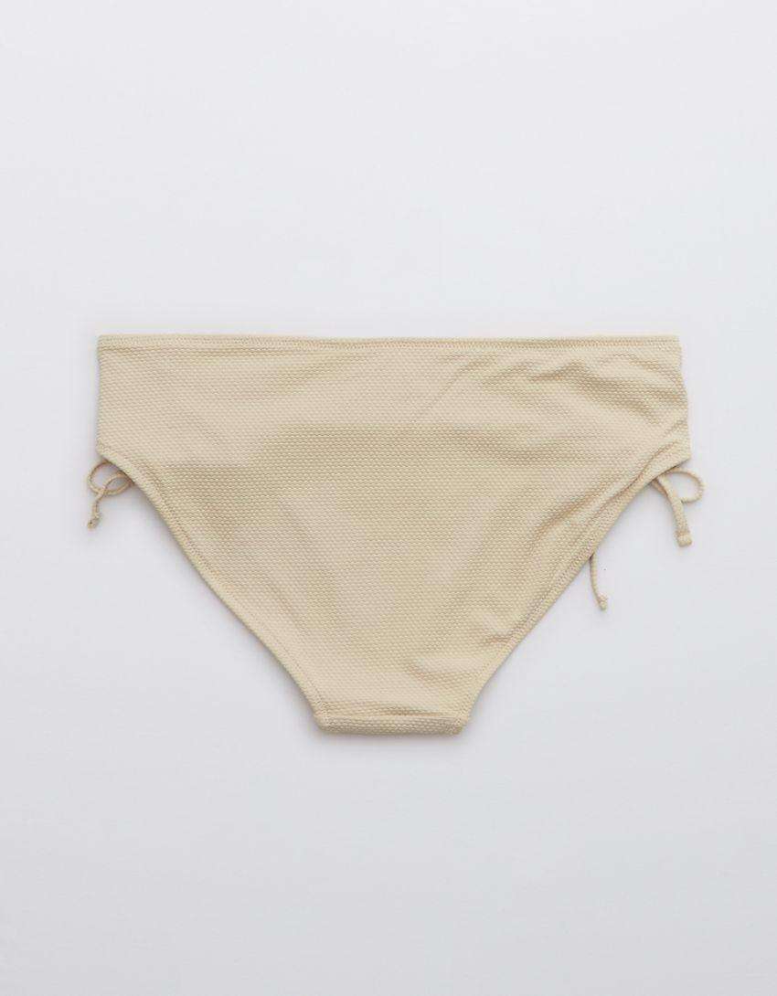 Aerie Pique Lace Up Bikini Bottom
