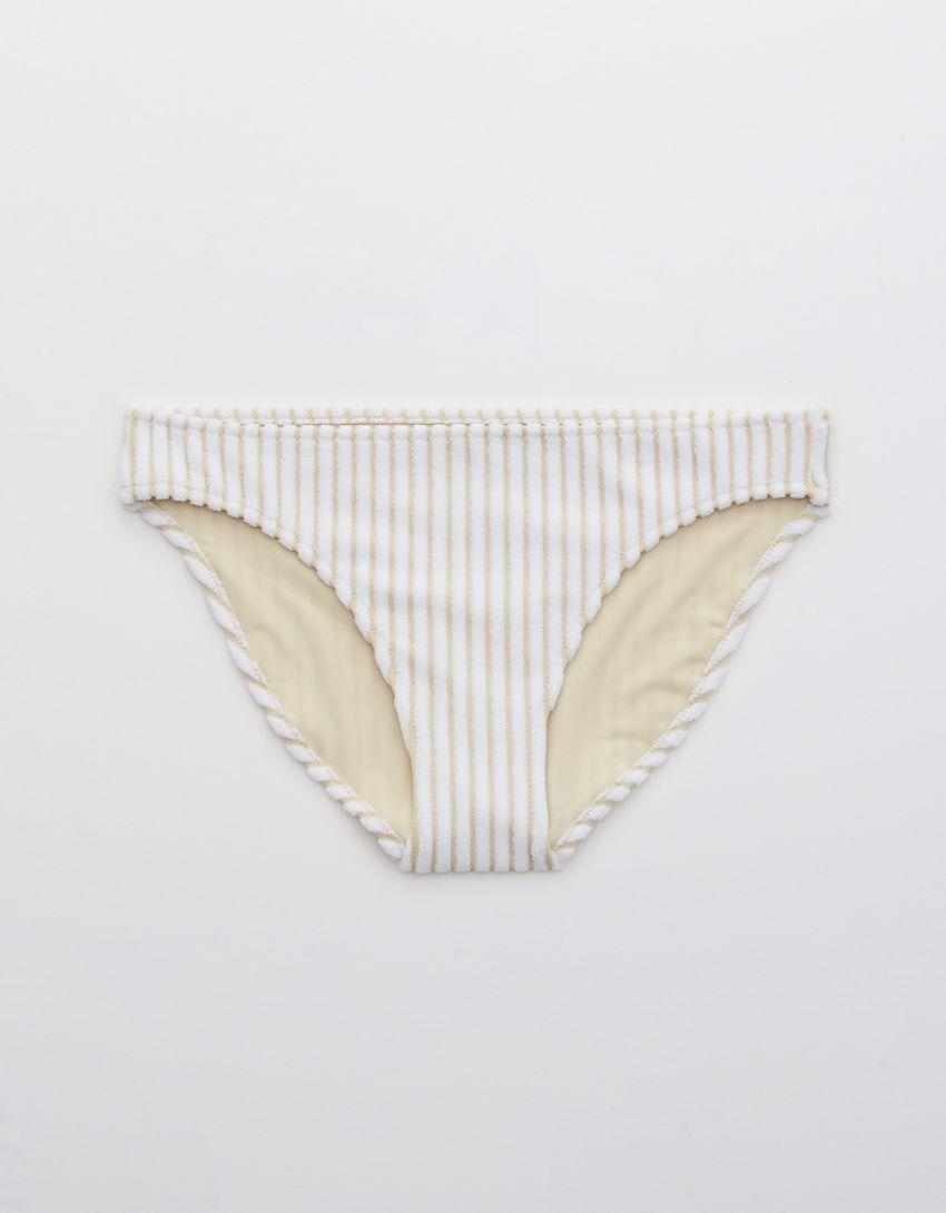 Aerie Terry Striped Bikini Bottom