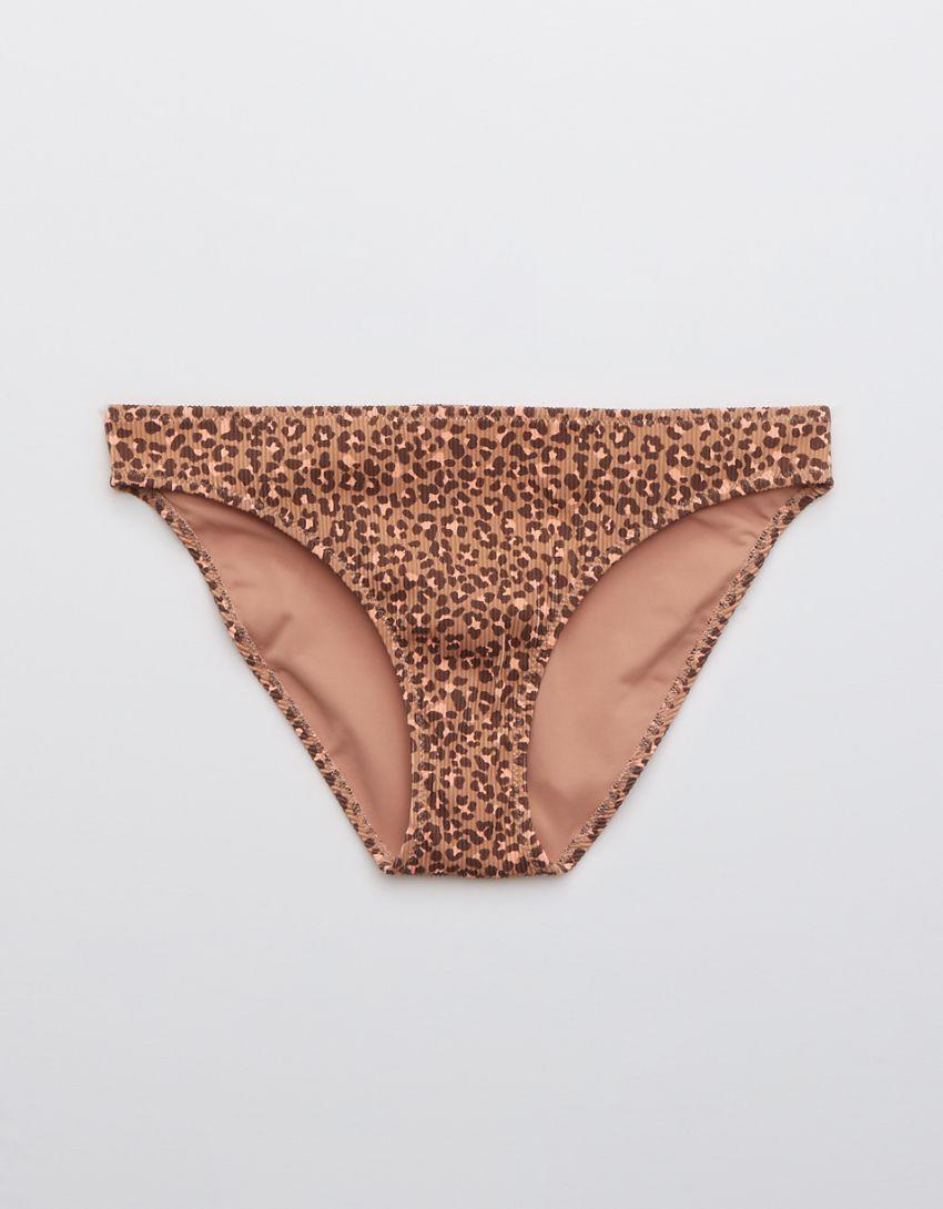 Aerie Ribbed Leopard Bikini Bottom