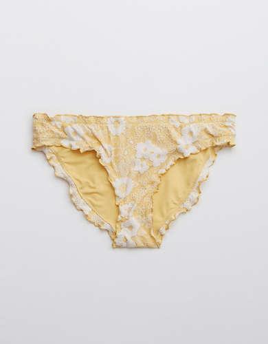 Aerie Jacquard Floral Bikini Bottom