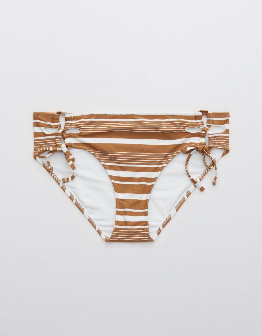 Aerie Printed Lace Up Bikini Bottom