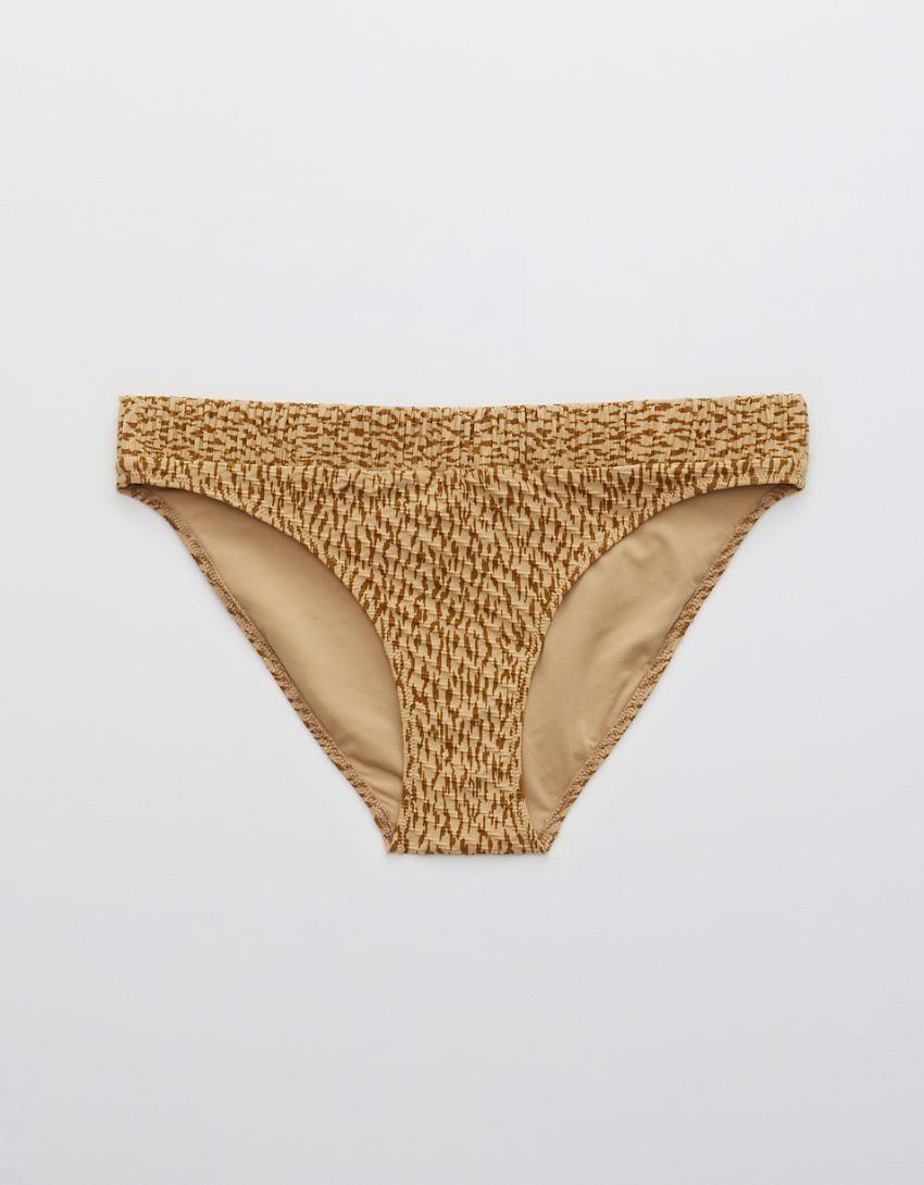 Aerie Jacquard Scrunchie Bikini Bottom