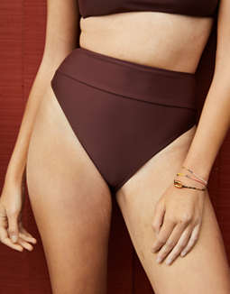 Aerie High Cut Cheeky Bikini Bottom