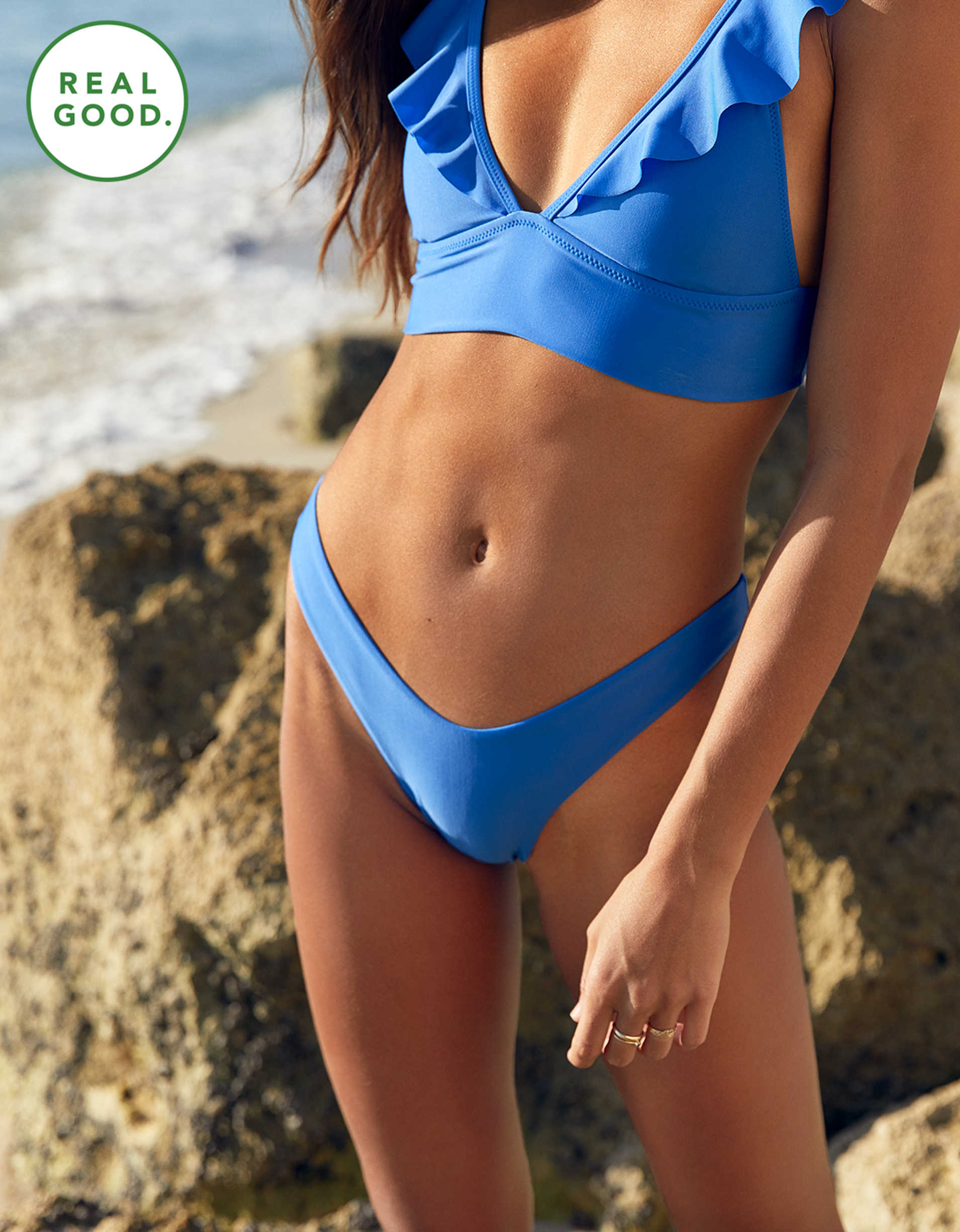 Aerie Super High Cut Cheekiest Bikini Bottom