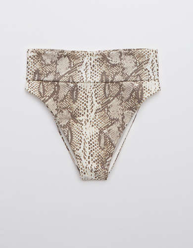 Aerie Snake High Cut Cheeky Bikini Bottom