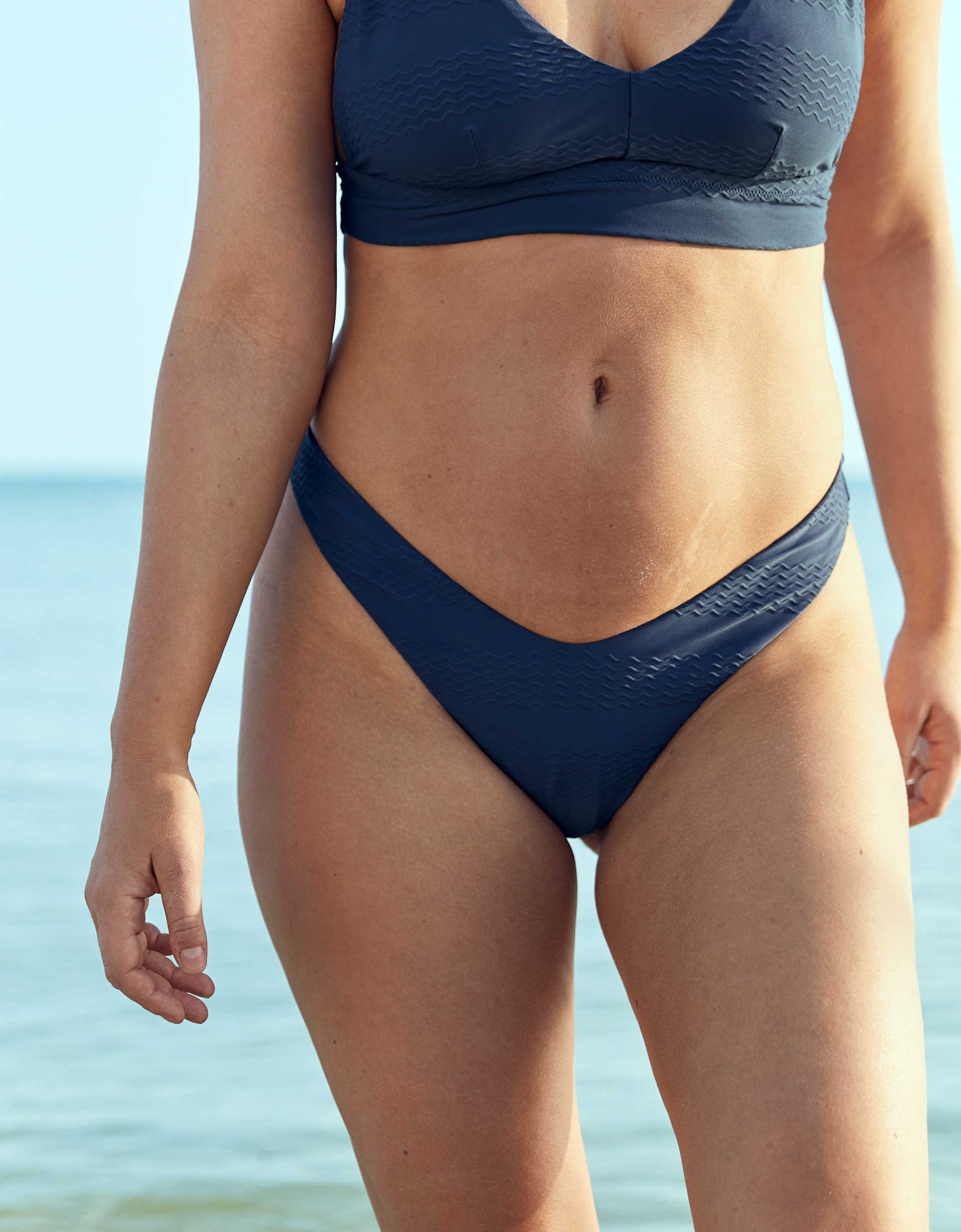 Aerie Jacquard Super High Cut Cheekiest Bikini Bottom