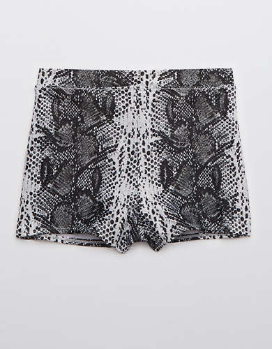Aerie Snake High Waisted Boyshort Bikini Bottom