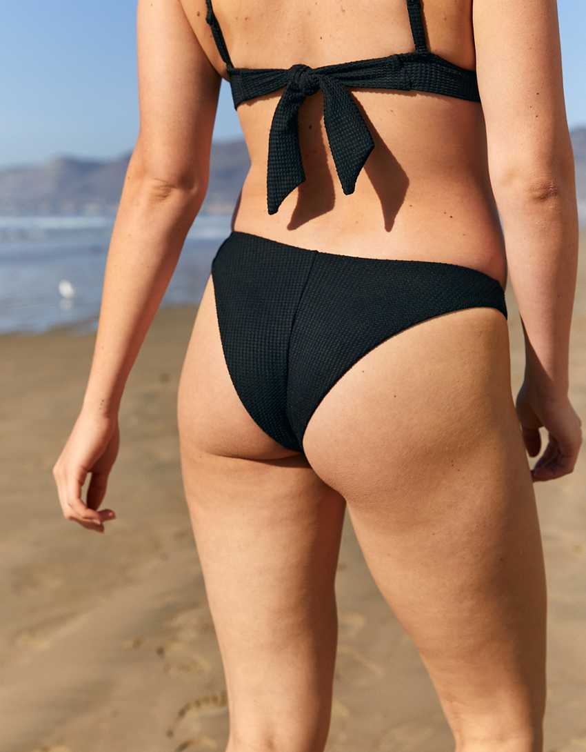 Aerie Waffle Super High Cut Cheekiest Bikini Bottom