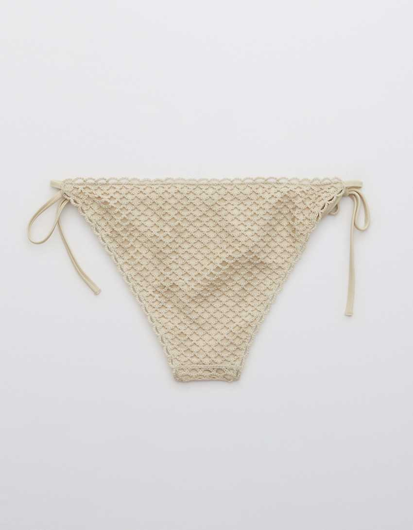 Aerie Crochet Cheeky Bikini Bottom