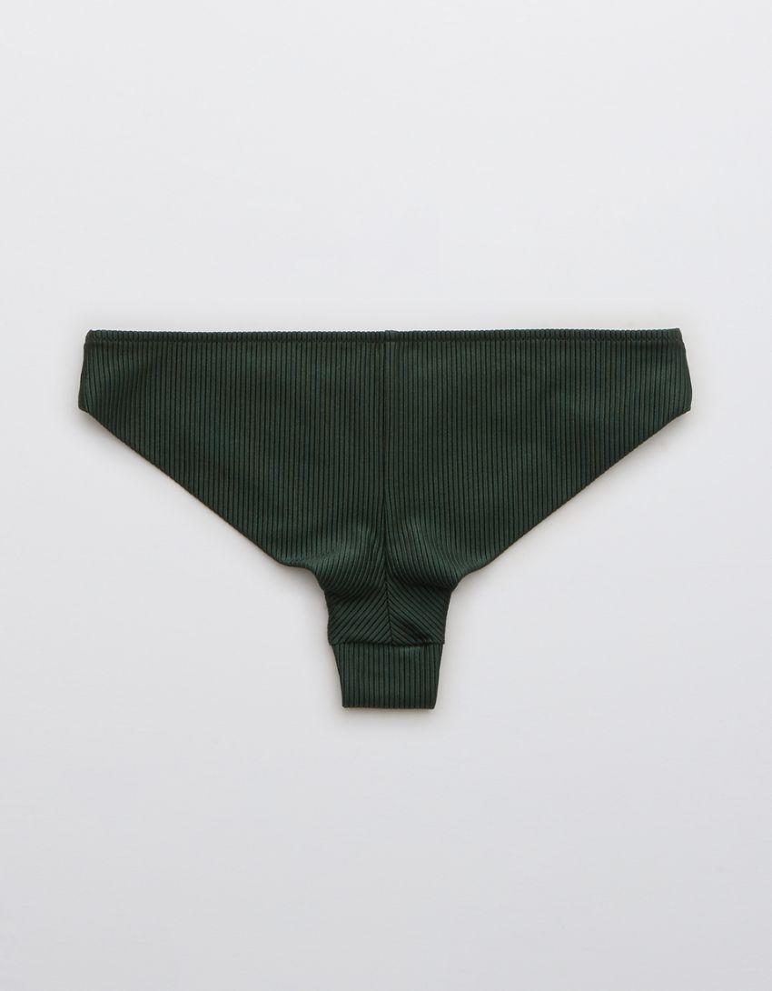 Aerie Ribbed Shine Cheeky Bikini Bottom