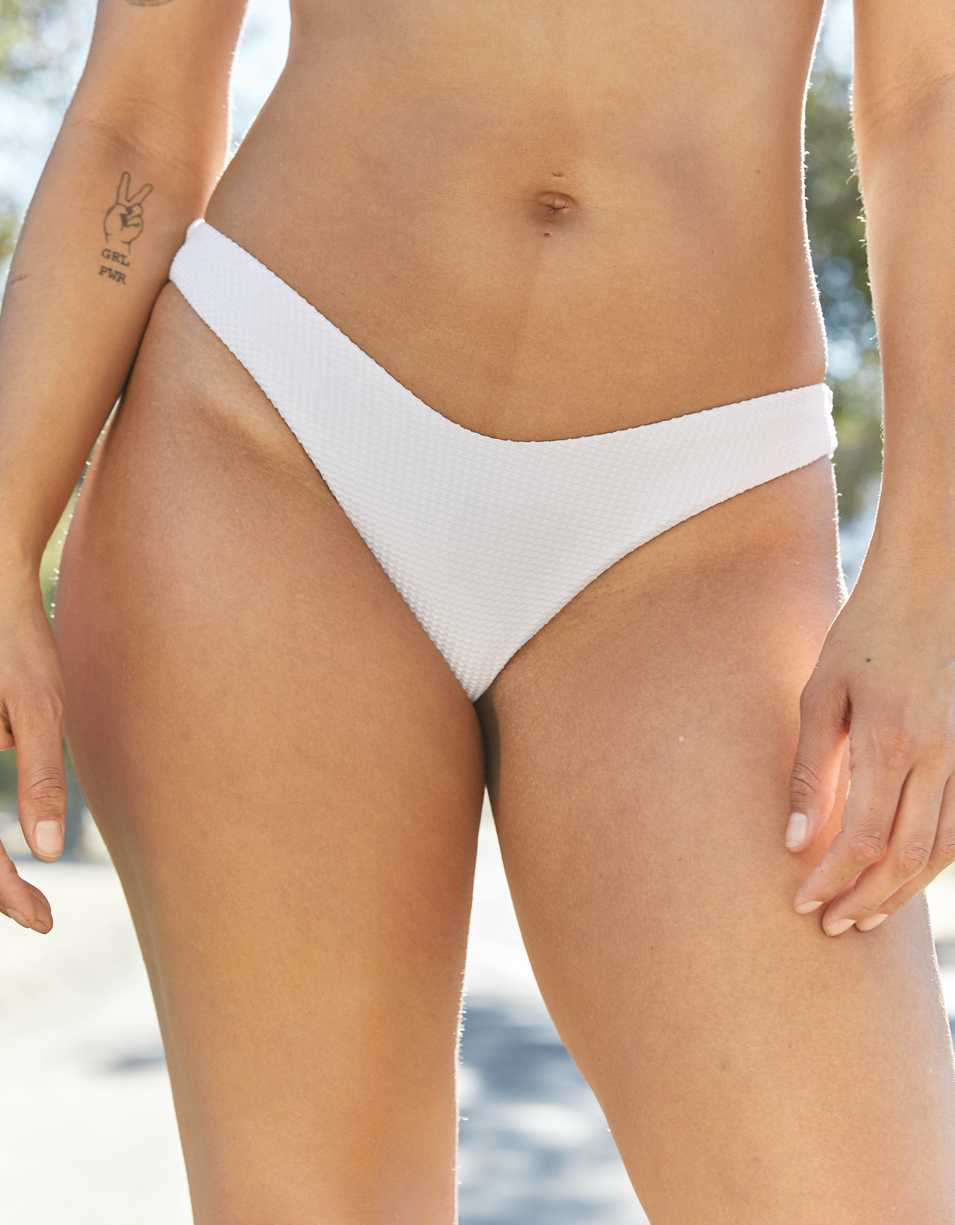 Aerie Waffle Super High Cut Cheekiest Bikini Bottom