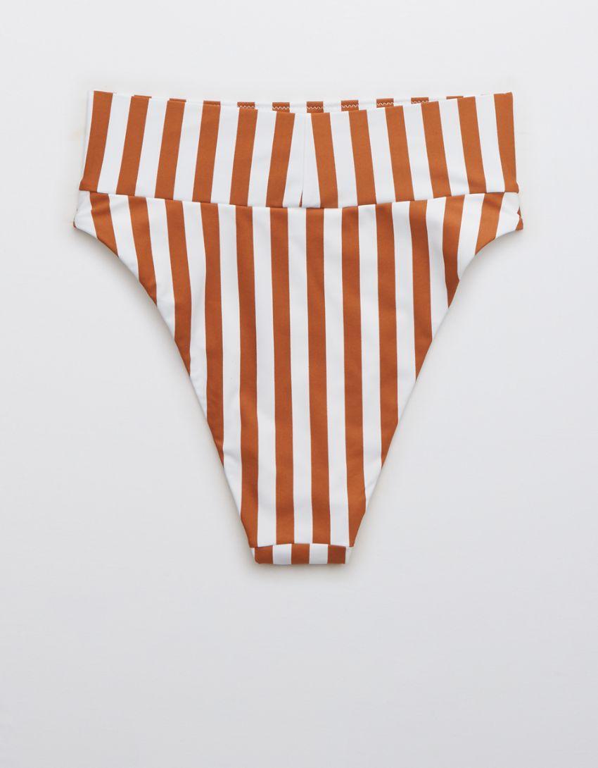 Aerie Printed High Cut Cheeky Bikini Bottom