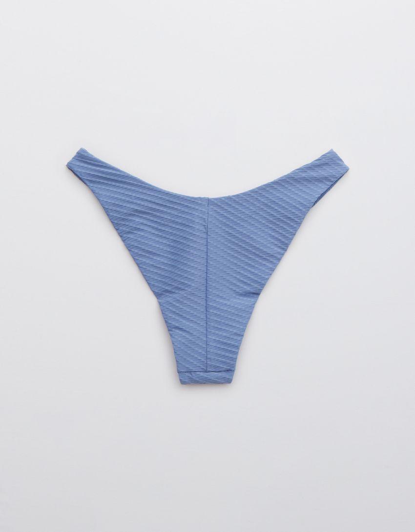 Aerie Jacquard Super High Cut Cheekiest Bikini Bottom