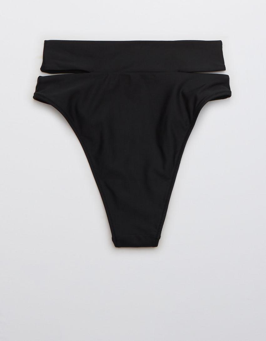 Aerie Split High Cut Cheeky Bikini Bottom