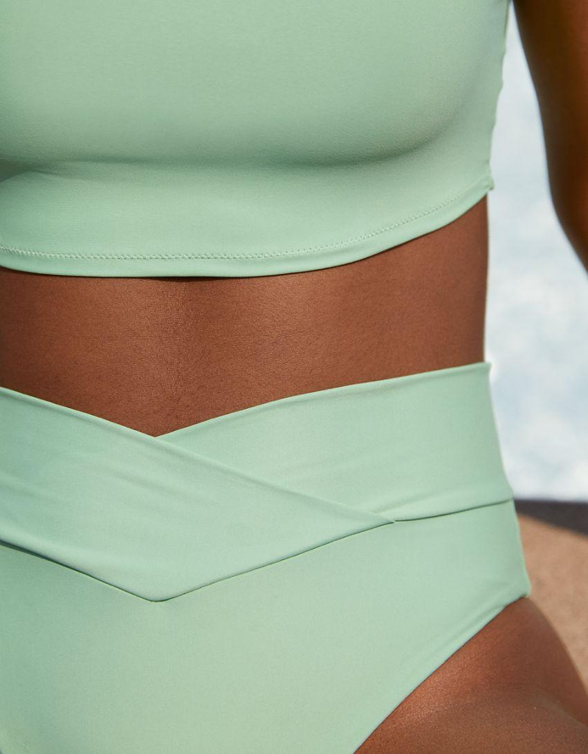 Aerie Crossover High Cut Cheeky Bikini Bottom