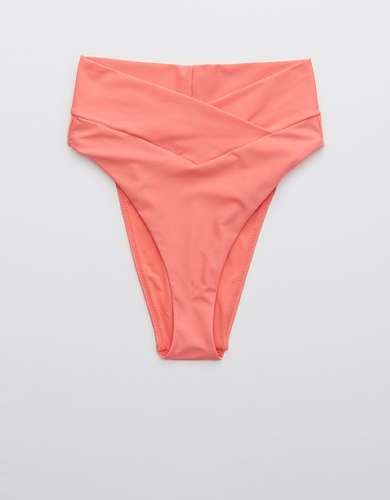 Aerie Crossover High Cut Cheeky Bikini Bottom