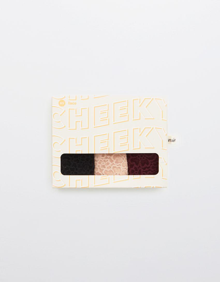 Aerie Eyelash Lace Cheeky Underwear 3-Pack