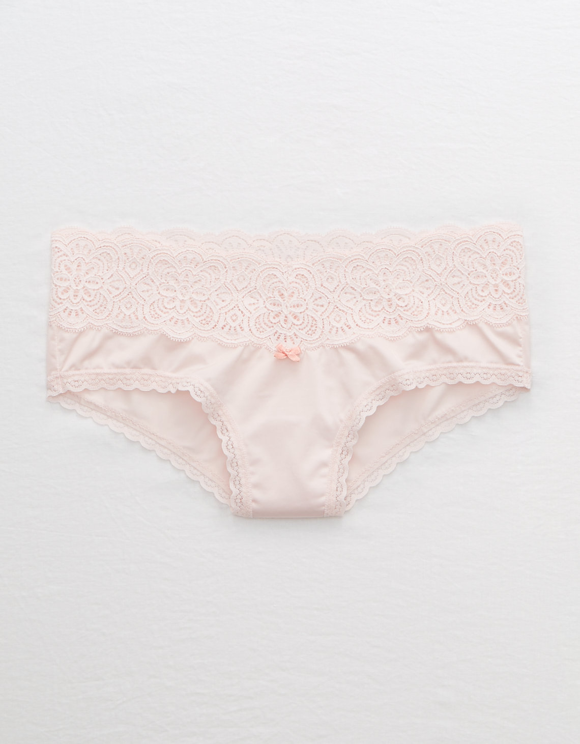 Aerie Lace Trim Shine Cheeky Undie