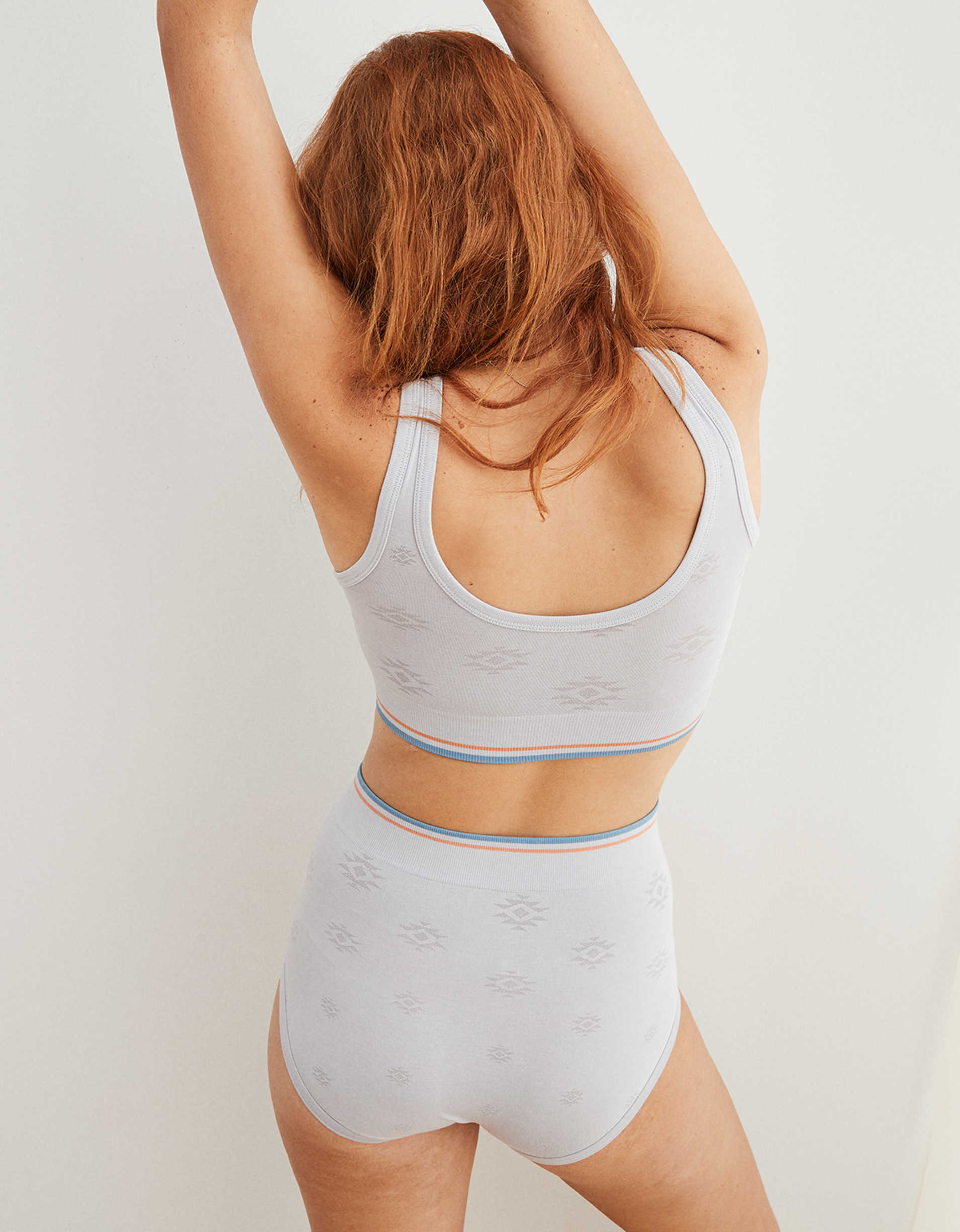 Aerie Seamless Jacquard High Waisted Boybrief